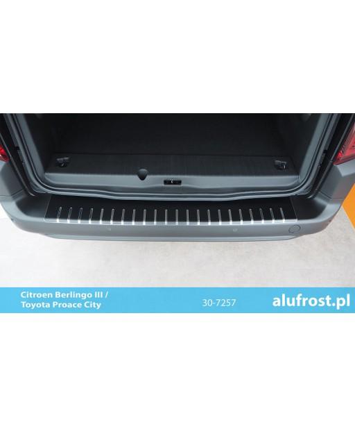 Rear bumper protector + carbon foil CITROEN BERLINGO III / TOYOTA PROACE CITY