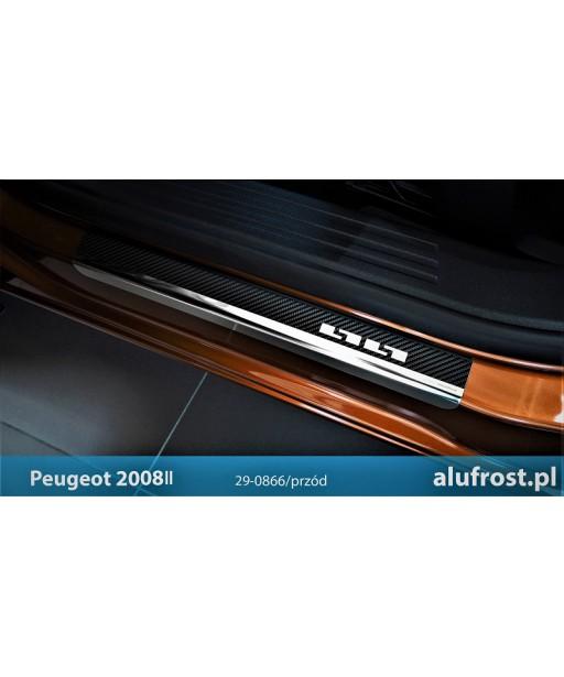 Door sills + carbon foil PEUGEOT 2008 II