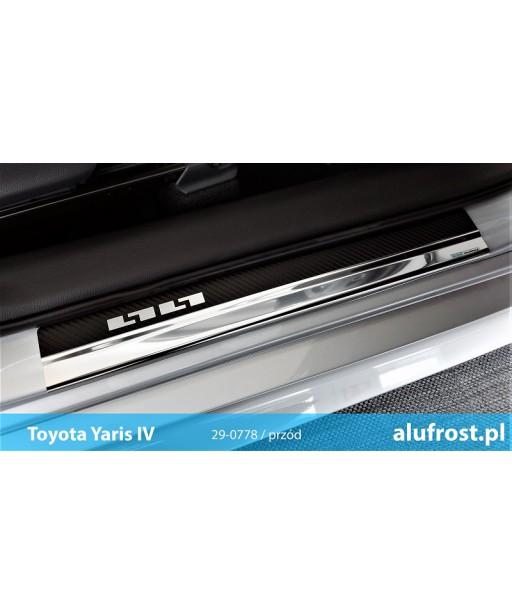 Door sills + carbon foil TOYOTA YARIS IV 5D