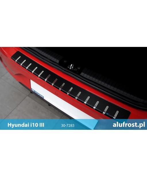 Rear bumper protector + carbon foil HYUNDAI i10 III