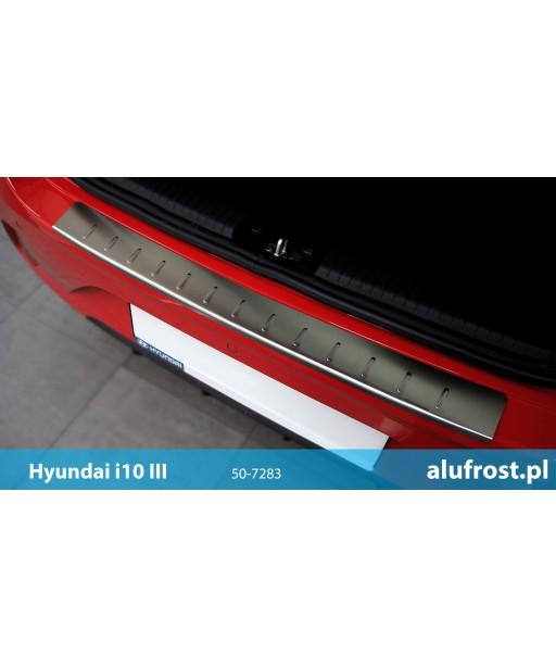 Rear bumper protector (inox) HYUNDAI i10 III
