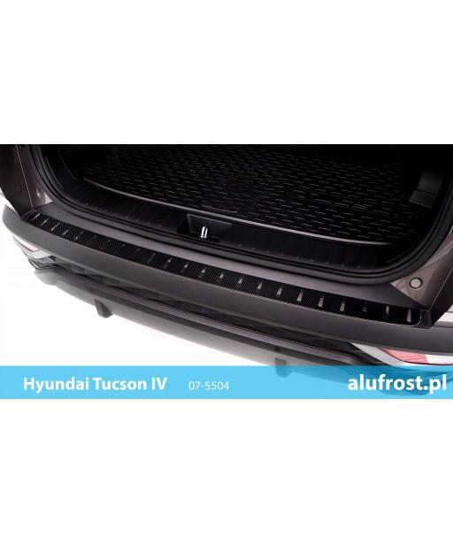 Rear bumper protector (steal + carbon foil) HYUNDAI TUCSON IV