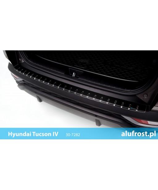 Rear bumper protector + carbon foil HYUNDAI TUCSON IV