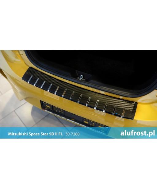 Rear bumper protector + carbon foil MITSUBISHI SPACE STAR 5D II FL