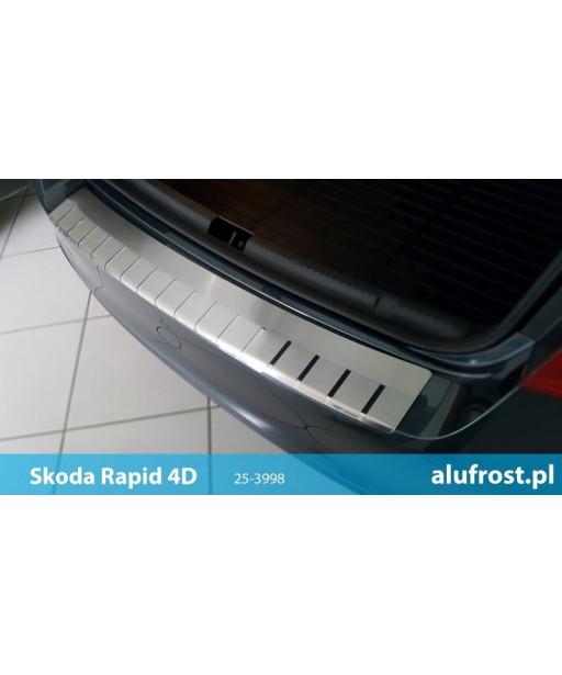 Rear bumper protector SKODA RAPID 4D