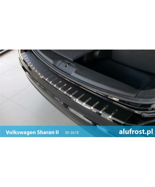 Rear bumper protector + carbon foil VOLKSWAGEN SHARAN II