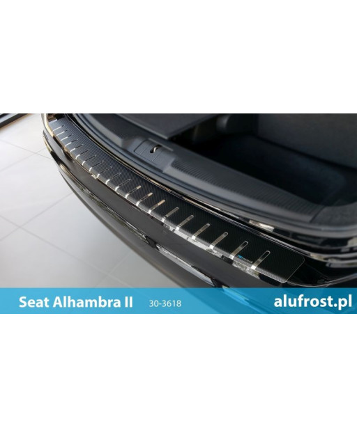 Rear bumper protector + carbon foil SEAT ALHAMBRA II