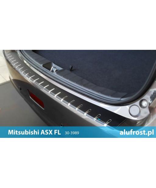 Rear bumper protector + carbon foil MITSUBISHI ASX 1FL