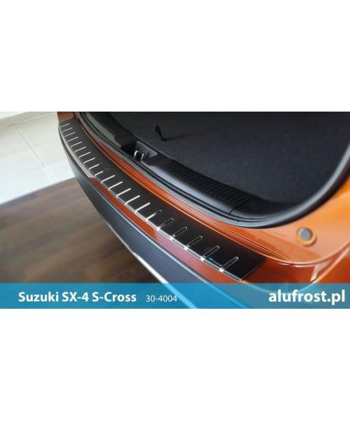 Rear bumper protector + carbon foil SUZUKI SX4 S-CROSS