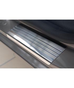 Nakładki progowe (stal + folia karbonowa) FIAT DOBLO II CARGO MAXI