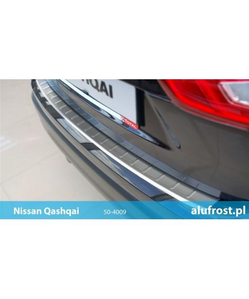 Rear bumper protector (inox) NISSAN QASHQAI II