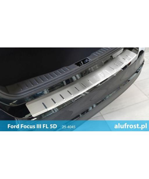 Rear bumper protector FORD FOCUS III FL 5D