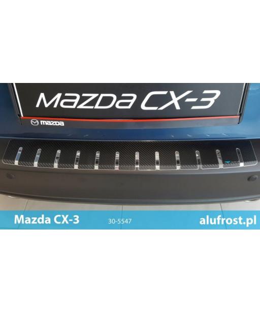 Nakładka na zderzak + folia karbonowa MAZDA CX-3