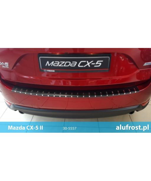 Nakładka na zderzak + folia karbonowa MAZDA CX-5 II