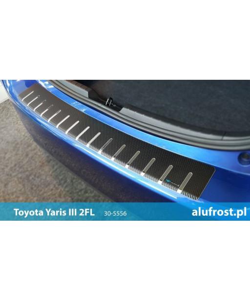 Rear bumper protector + carbon foil TOYOTA YARIS III 2FL 5D