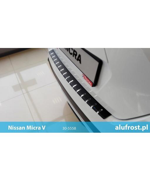 Rear bumper protector + carbon foil NISSAN MICRA V 5D