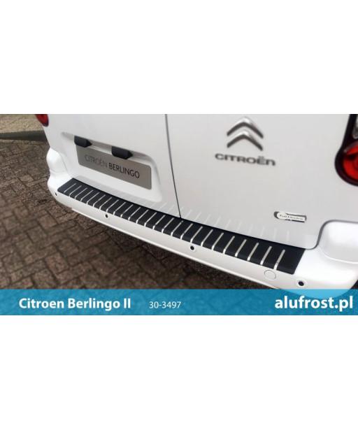 Rear bumper protector + carbon foil CITROEN BERLINGO II / PEUGEOT PARTNER II