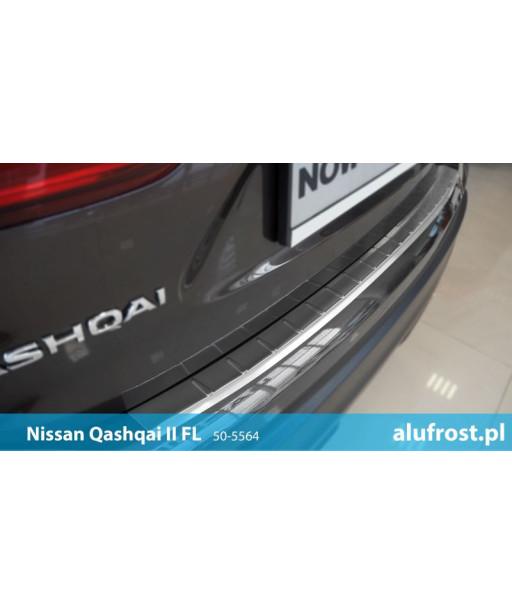 Rear bumper protector (inox) NISSAN QASHQAI II FL
