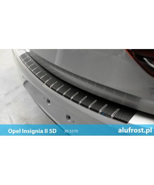 Rear bumper protector + carbon foil OPEL INSIGNIA II 5D
