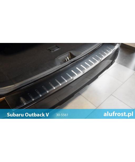 Rear bumper protector + carbon foil SUBARU OUTBACK V