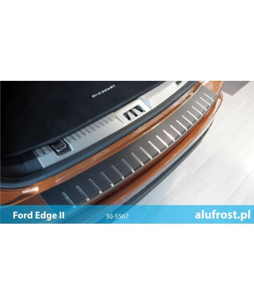Rear bumper protector + carbon foil FORD EDGE II