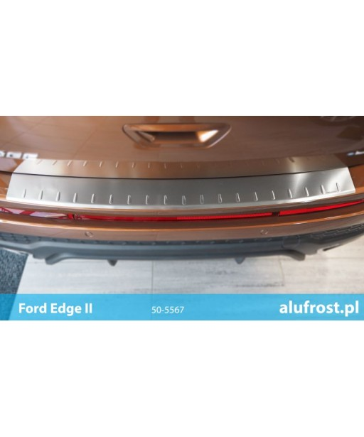 Rear bumper protector (inox) FORD EDGE II