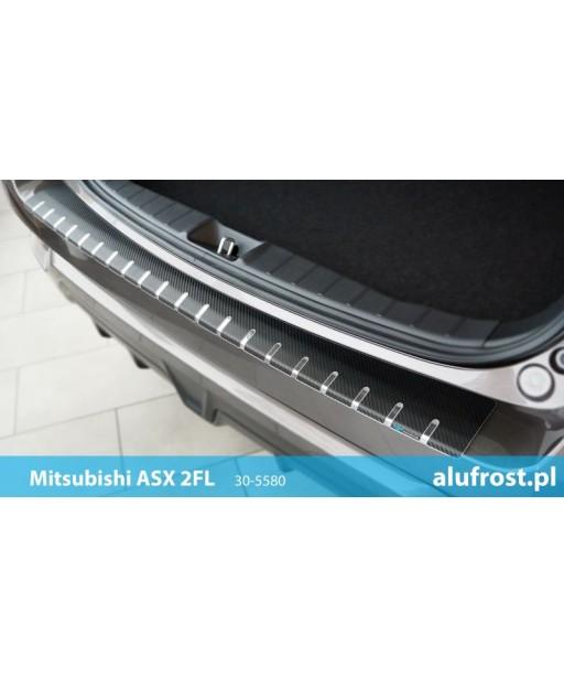 Rear bumper protector + carbon foil MITSUBISHI ASX