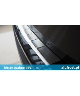 Płaska nakładka na zderzak (stal + folia karbonowa) NISSAN MICRA IV 5D