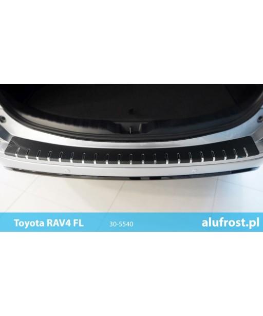 Rear bumper protector + carbon foil TOYOTA RAV-4 IV FL