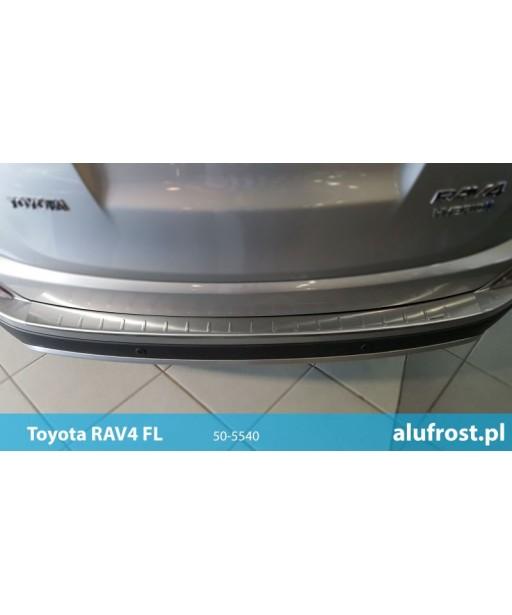 Rear bumper protector (inox) TOYOTA RAV-4 IV FL