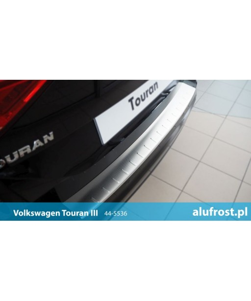 Rear bumper protector (patterned steel) VOLKSWAGEN TOURAN III
