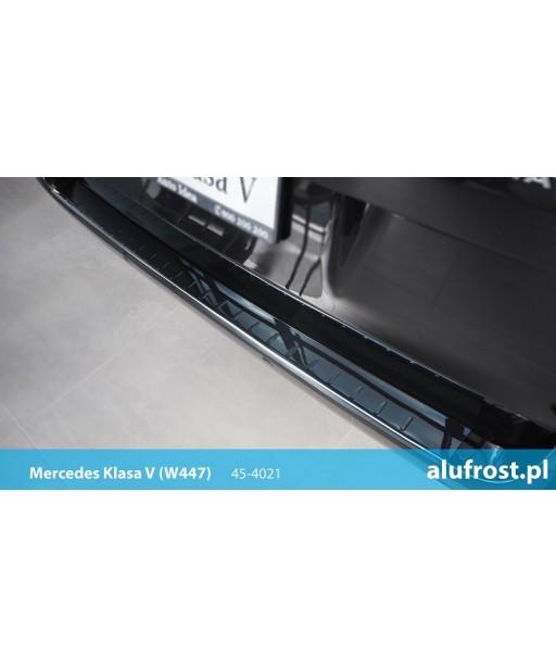 Rear bumper protector (black mirror steel) MERCEDES V-CLASS
