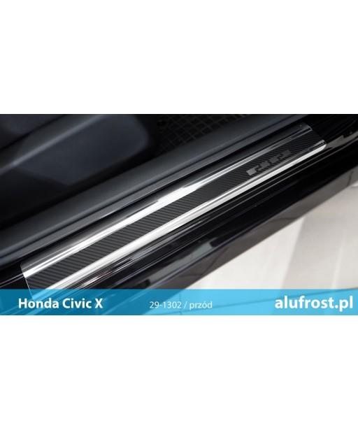 Door sills + carbon foil HONDA CIVIC X 4D/5D