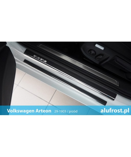 Door sills + carbon foil MERCEDES CLASS A (W169) 5D