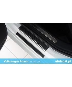 Płaska nakładka na zderzak (stal + folia karbonowa) PEUGEOT 207 3D | 5D