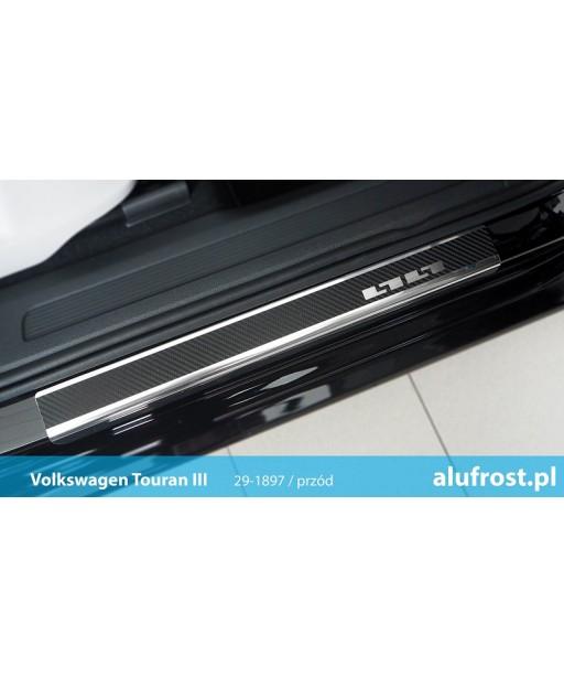 Door sills + carbon foil VOLKSWAGEN TOURAN III