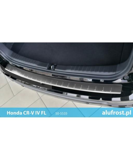 Rear bumper protector (inox) HONDA CR-V IV FL