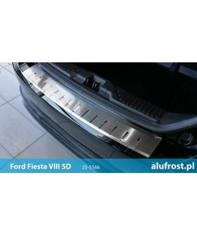 Płaska nakładka na zderzak (stal + folia karbonowa) SEAT IBIZA IV 3D
