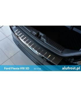 Płaska nakładka na zderzak (stal + folia karbonowa) SEAT IBIZA IV 5D