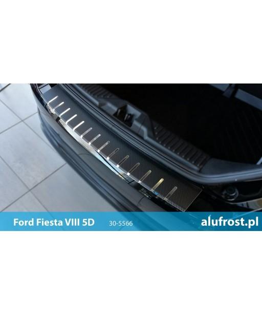 Rear bumper protector + carbon foil FORD FIESTA VIII 5D
