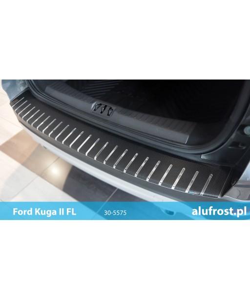 Rear bumper protector + carbon foil FORD KUGA II FL