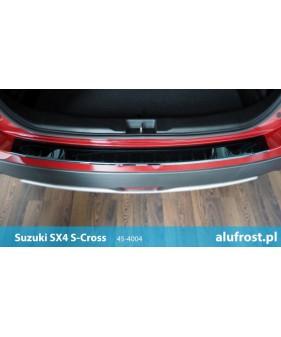 Płaska nakładka na zderzak (stal + folia karbonowa) SUZUKI GRAND VITARA II 3D / 5D (wersja z kołem zapasowym)