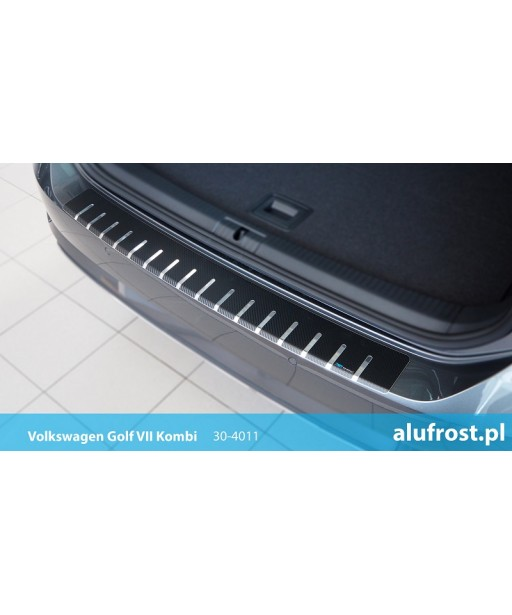 Rear bumper protector + carbon foil VOLKSWAGEN GOLF VII KOMBI