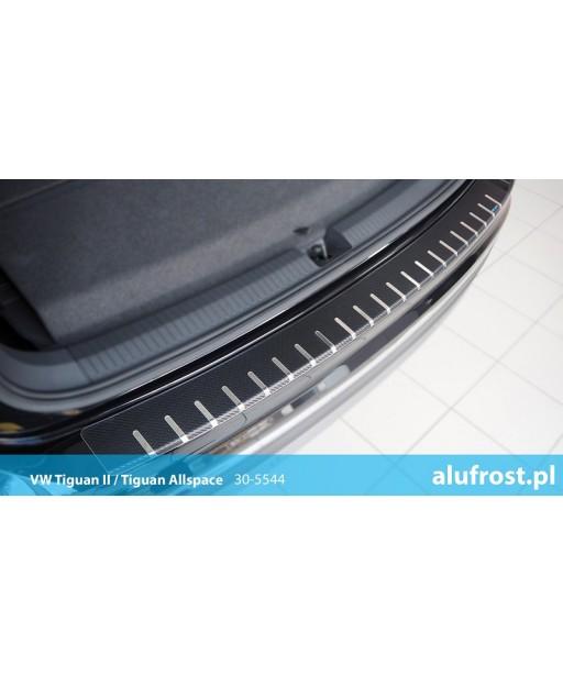 Rear bumper protector + carbon foil VOLKSWAGEN TIGUAN II / TIGUAN ALLSPACE