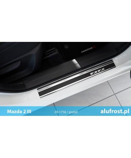 Door sills + carbon foil MAZDA 2 III
