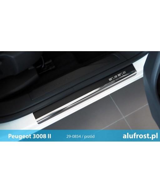 Door sills + carbon foil PEUGEOT 3008 II