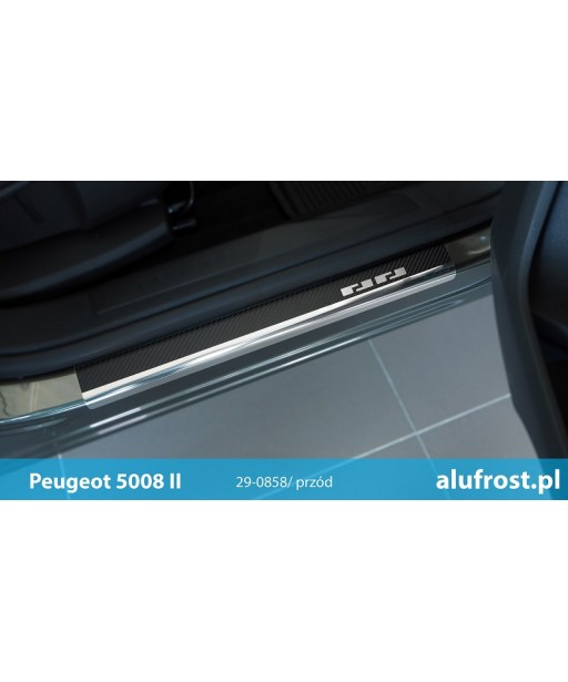Nakładki progowe + folia karbonowa PEUGEOT 5008 II