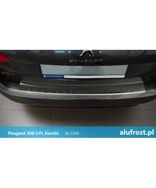 Rear bumper protector (inox) PEUGEOT 308 II SW FL