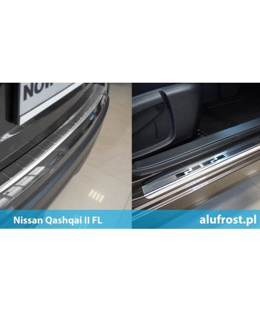 SET of door sills and rear bumper protector NISSAN QASHQAI II FL