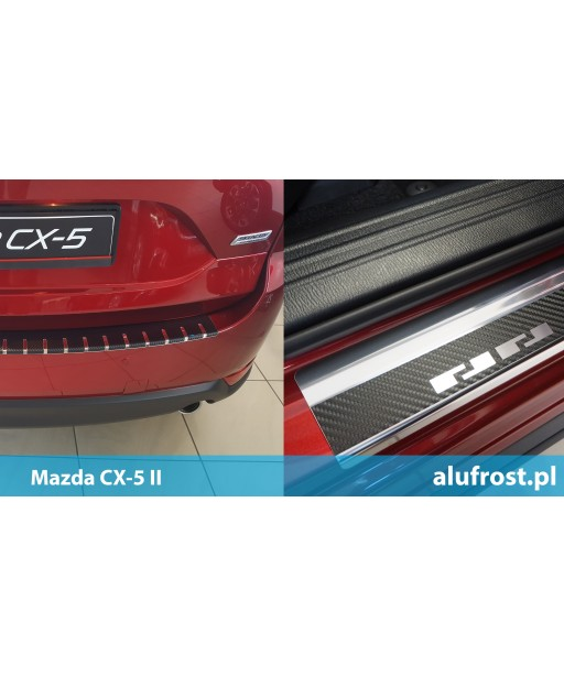 SET of door sills and rear bumper protector + carbon foil MAZDA CX-5 II
